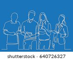 business team   continuous line ... | Shutterstock .eps vector #640726327