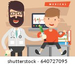doctor and health care concept... | Shutterstock .eps vector #640727095