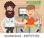 doctor and health care concept... | Shutterstock .eps vector #640727101