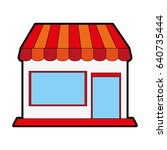 small store or shop icon image  | Shutterstock .eps vector #640735444
