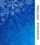 Blue Background With Snowflake...