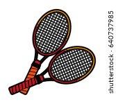 racket or racquet tennis... | Shutterstock .eps vector #640737985