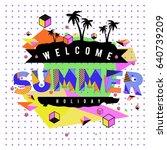 trendy vector summer cards...   Shutterstock .eps vector #640739209
