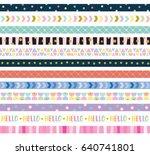 vector illustration of cute...   Shutterstock .eps vector #640741801