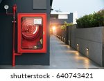 fire extinguisher and fire hose ... | Shutterstock . vector #640743421