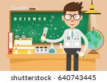 scientist concept design clean... | Shutterstock .eps vector #640743445