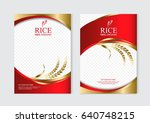 rice food or thai food  banner... | Shutterstock .eps vector #640748215