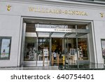 Small photo of New York, May 08, 2017: The front of a Williams-Sonoma store in Time Warner Center.