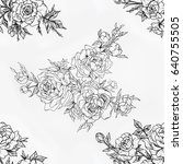 seamless pattern of beautiful... | Shutterstock . vector #640755505