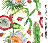 watercolor seamless pattern... | Shutterstock . vector #640760395