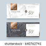 gift voucher discount template... | Shutterstock .eps vector #640762741