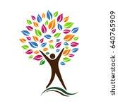 person tree vector icon... | Shutterstock .eps vector #640765909