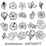 flower set | Shutterstock . vector #640766977