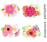 flower set | Shutterstock . vector #640766995