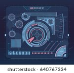 abstract future  concept vector ... | Shutterstock .eps vector #640767334