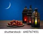 the muslim feast of the holy... | Shutterstock . vector #640767451
