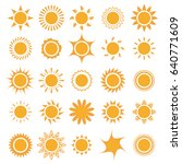 sun icons collection. | Shutterstock .eps vector #640771609