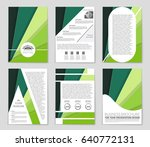 abstract vector layout... | Shutterstock .eps vector #640772131