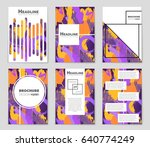 abstract vector layout... | Shutterstock .eps vector #640774249
