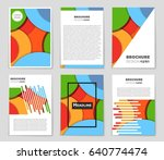 abstract vector layout... | Shutterstock .eps vector #640774474