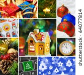 Collage Of Christmas Images  M...