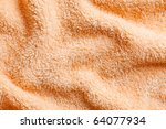 orange towel background - stock photo