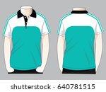 polo shirt design turquoise... | Shutterstock .eps vector #640781515