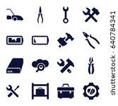 maintenance icons set. set of... | Shutterstock .eps vector #640784341