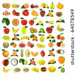 large collection of fruit | Shutterstock . vector #64078549