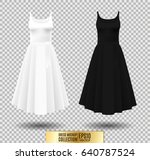 women's dress mockup collection.... | Shutterstock .eps vector #640787524