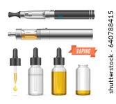 realistic trend vaping... | Shutterstock .eps vector #640788415