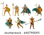 armored knights | Shutterstock .eps vector #640790095