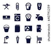 Appliance Icons Set. Set Of 16...