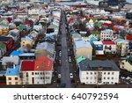 idyllic street view of the... | Shutterstock . vector #640792594