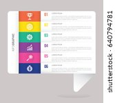 speech infographic template... | Shutterstock .eps vector #640794781