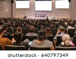 rear view of audience over the... | Shutterstock . vector #640797349
