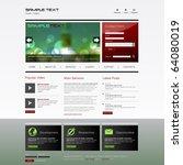 vector website design template   Shutterstock .eps vector #64080019