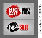 black friday sale inscription... | Shutterstock . vector #640802605