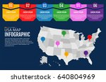 map of united states of america ... | Shutterstock .eps vector #640804969