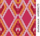 ikat seamless pattern design... | Shutterstock . vector #640806175