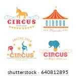 vector set of circus logo ... | Shutterstock .eps vector #640812895