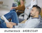 young man waiting for the... | Shutterstock . vector #640815169