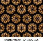 seamless lace pattern with... | Shutterstock .eps vector #640827265