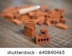 toy bricks  building tool... | Shutterstock . vector #640840465
