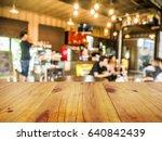wooden board empty table in... | Shutterstock . vector #640842439