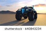 3d cg rendering of a pickup... | Shutterstock . vector #640843234