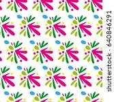 pattern with abstract motives... | Shutterstock .eps vector #640846291