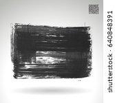 brush stroke and texture.... | Shutterstock .eps vector #640848391