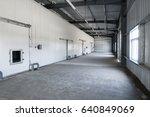 big freezer warehouse at the... | Shutterstock . vector #640849069