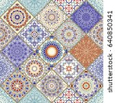 seamless ceramic tile with... | Shutterstock .eps vector #640850341